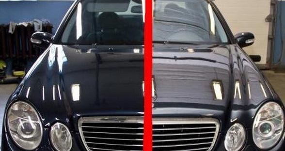 Полировка кузова до и после